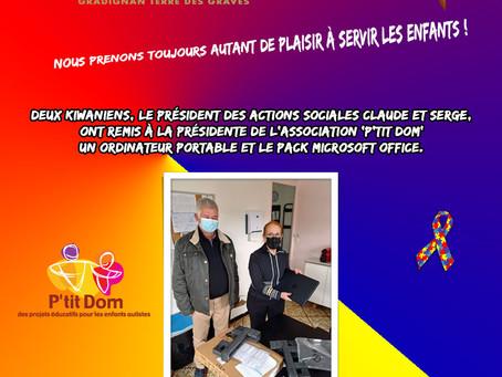 P'tit Dom et le Kiwanis Gradignan