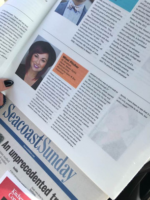 Article on owner Missi Pitcher being named top 20 young professional on the Seacoast.