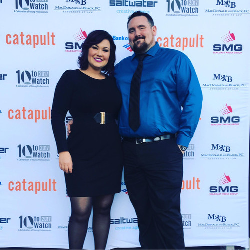Owners Missi and Brandon at Catapult Seacoast Ten To Watch Awards.