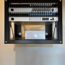 Network rack installation