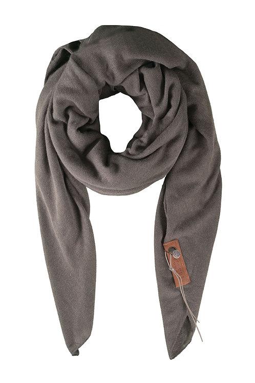 Stoere grote sjaal - Steengrijs