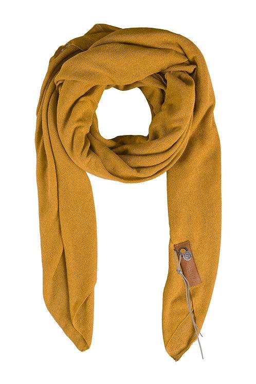 Stoere grote sjaal - Oker
