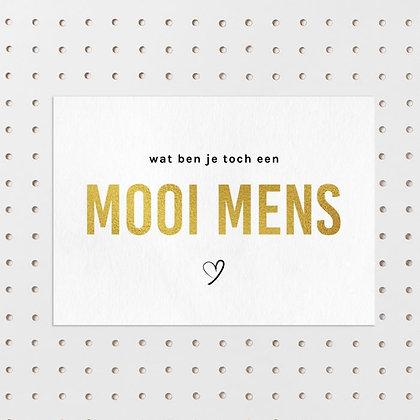 Mooi Mens - kaart -Letters & Lines