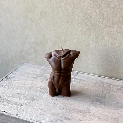 Hustle & Spice | Male torso candle - small Cacao
