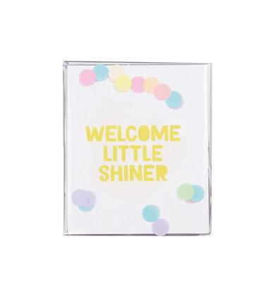 Confetti kaart - Welcome little shiner