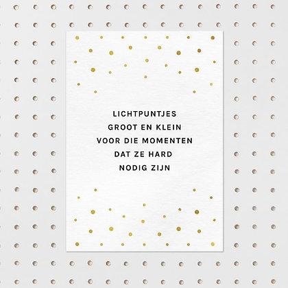 Lichtpuntjes - kaart -Letter & Lines
