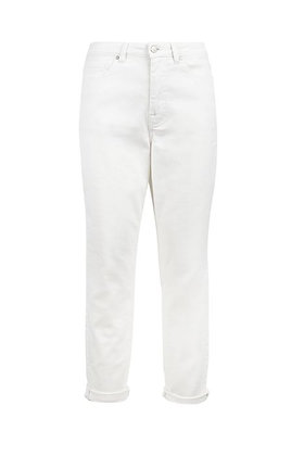 Trendy mom jeans off white - Zusss