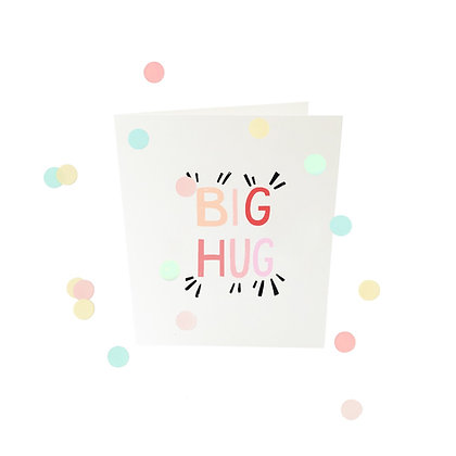 Confetti kaart - Big Hug