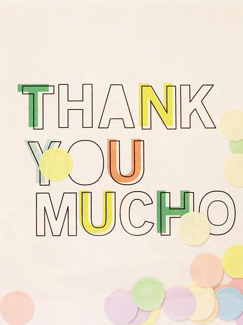 Confetti Kaart - Thank You