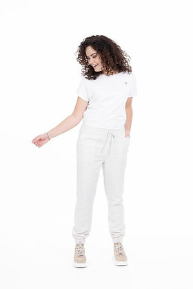 Basic t-shirt hartje Wit -Zusss