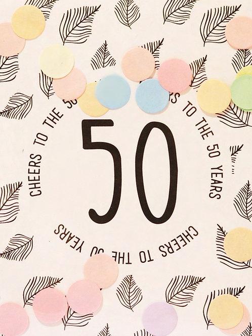 Confetti Kaart - 50