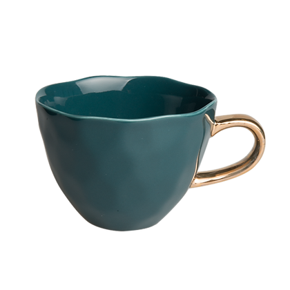Goodmorning cup blue green