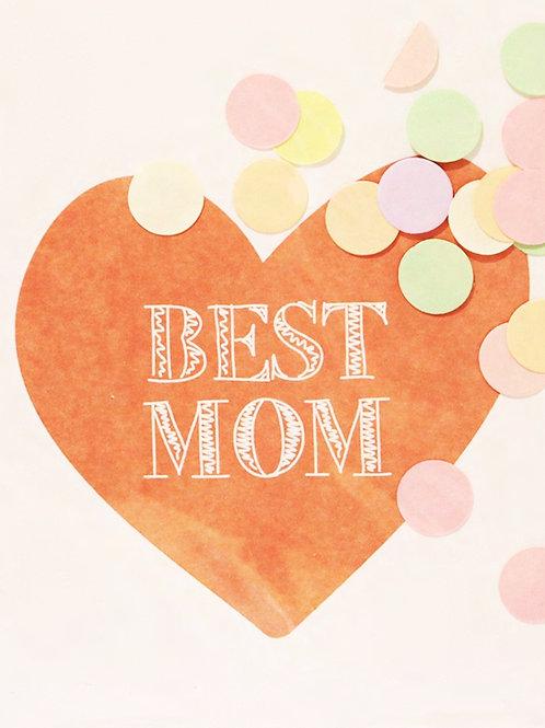 Confetti Kaart - Best Mom
