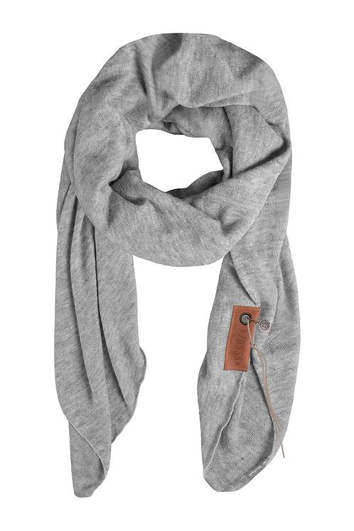 Stoere grote sjaal - Poedergrijs
