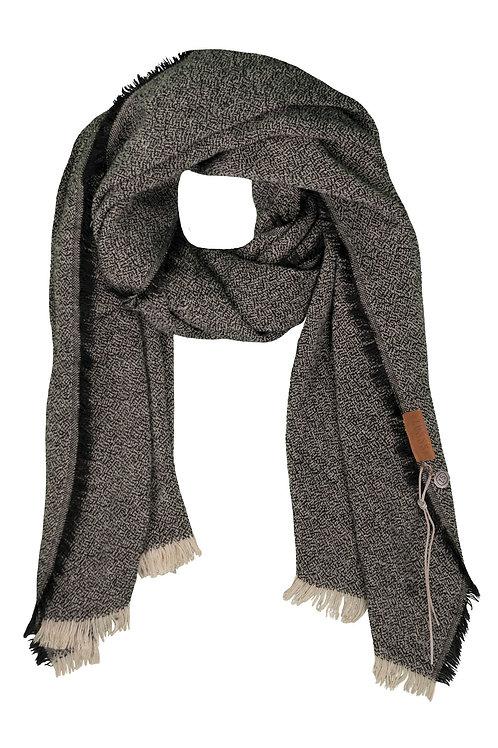 Gespikkelde sjaal - Zwart