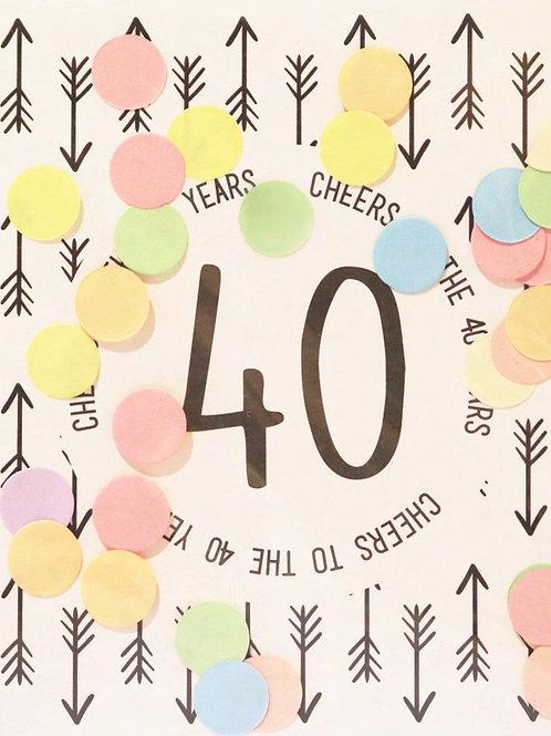 Confetti Kaart - 40