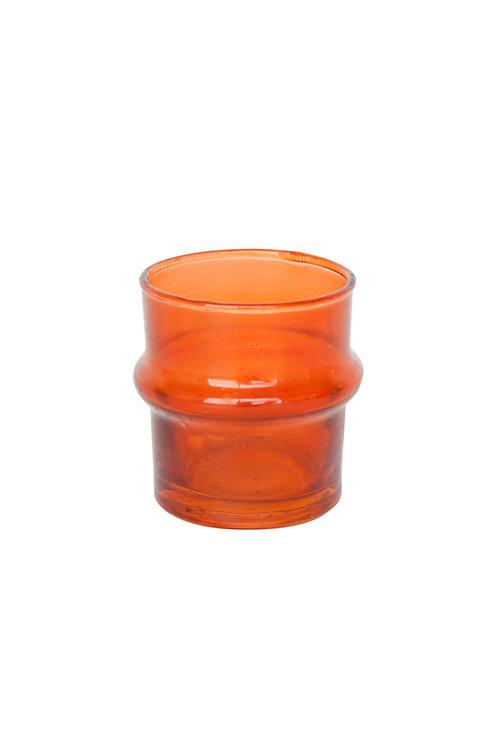 UNC recycled glass tealightholder - Oranje