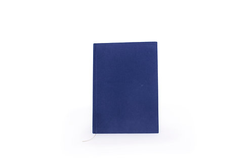 Notitieboek Velvet - Donker Blauw