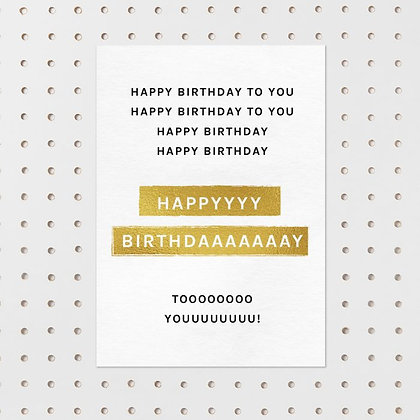 Happy Birthday to you kaart -Letters&lines