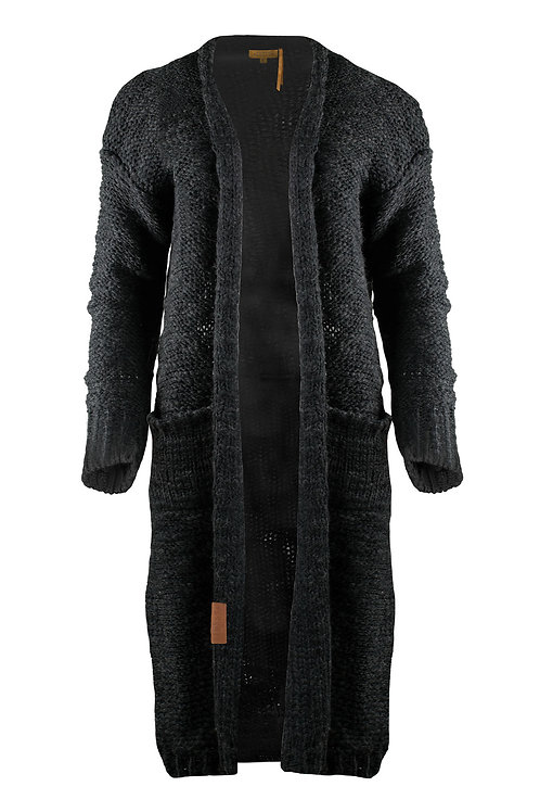 Stoer gebreid vest - Off Black