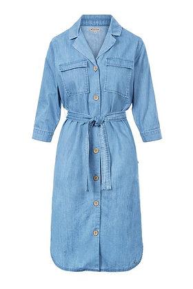 Doorknoopjurk jeans lichtblauw -Zusss