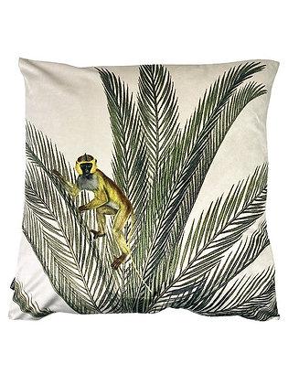 Kussen Velvet Palm aap 50x50cm