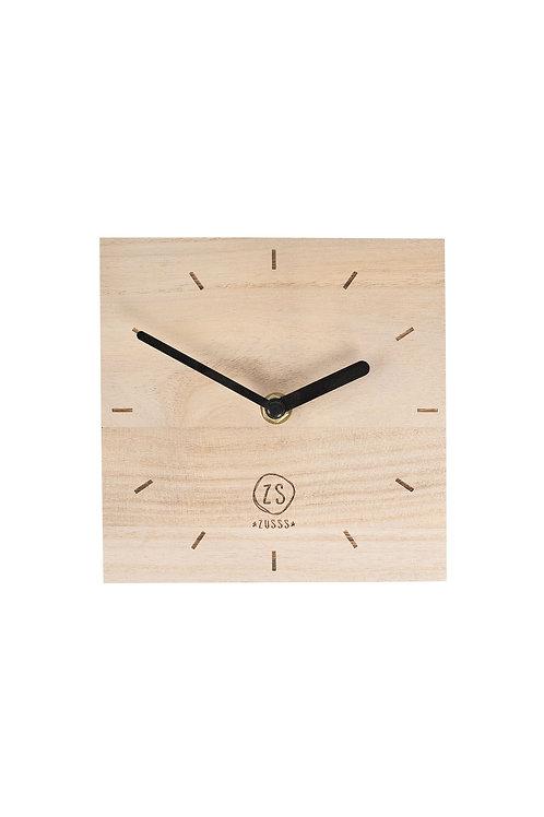 Klok vierkant hout