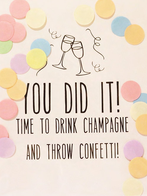 Confetti Kaart - You Did It!