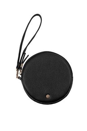 Kekke ronde clutch zwart