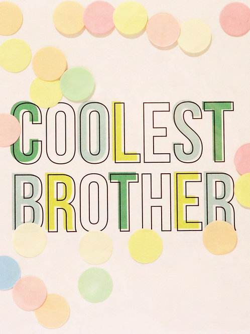Confetti Kaart - Coolest Brother