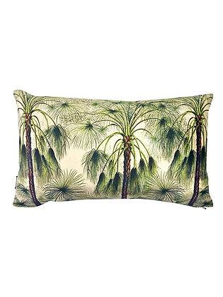 Kussen Velvet Palm groen 30x50cm