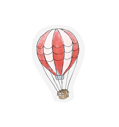 Cutout cards - HOT AIR BALLOON