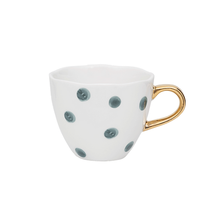 Mini Goodmorning cup small dots, blue green