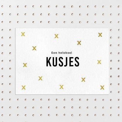 Een heleboel kusjes kaart -Letters & Lines