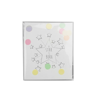 Confetti kaart -A start is born
