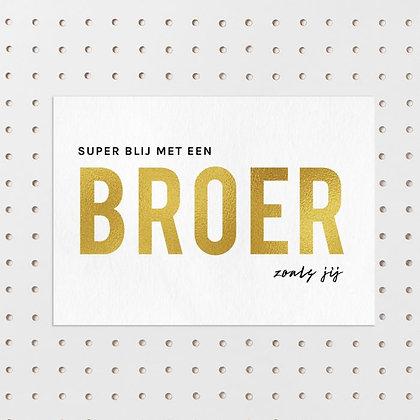 Blij met een broer kaart -Letters & Lines