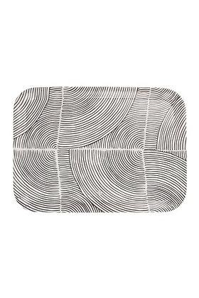 Zuss Melamine Dienblad Grafisch patroon 43X32CM Zand