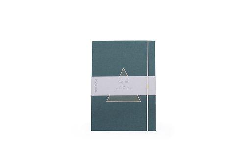 Notitieboek Driehoek - Donker Groen