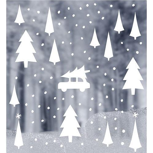 Raamstickers - Kerst