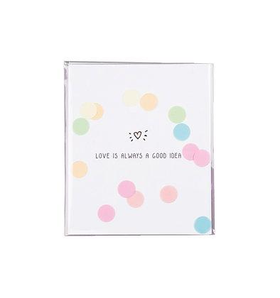 Confetti kaart - Love is always