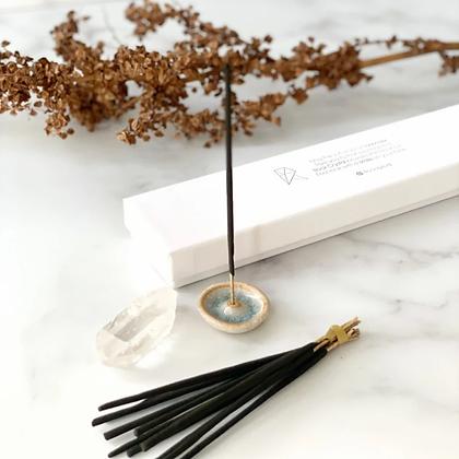 Wierook & Gemstone giftbox: Lavendel/Bergkristal