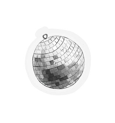 Cutout cards - DISCO BALL