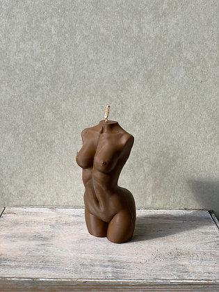 Hustle Spice | Female torso candle small | cacao