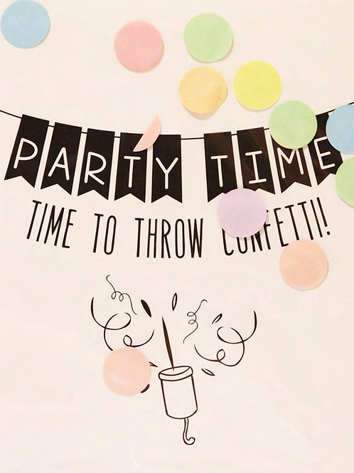 Confetti Kaart - Party Time