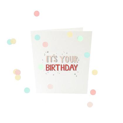 Confetti kaart -It's your birthday