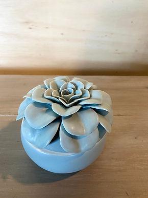 Ceramic Flower Candle