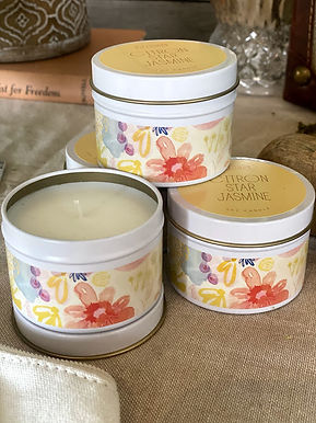 Soy Candles Mini Metal Tins