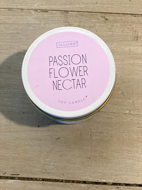 Passion Flower Nectar Metal Tin Soy Candle