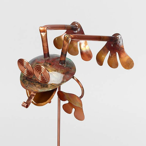Leap Frog Copper Garden Stake