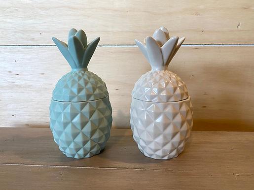 Ceramic Pineapple Candle